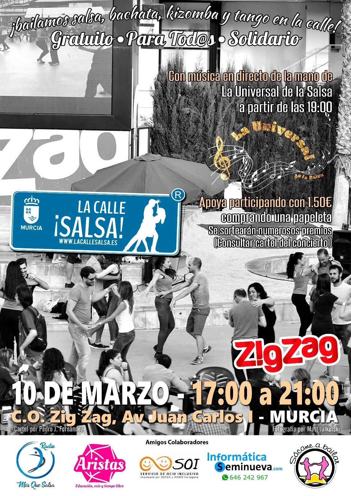 """Presentación de """"La Universal de la Salsa"""" en Zigzag Murcia"""